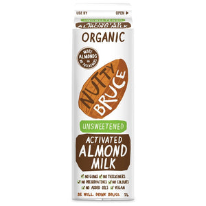 Nutty Bruce | Nutty Bruce  Activated Unsweetened Almond M*lk | 1 X 1ltr. Sold By Superfood Market