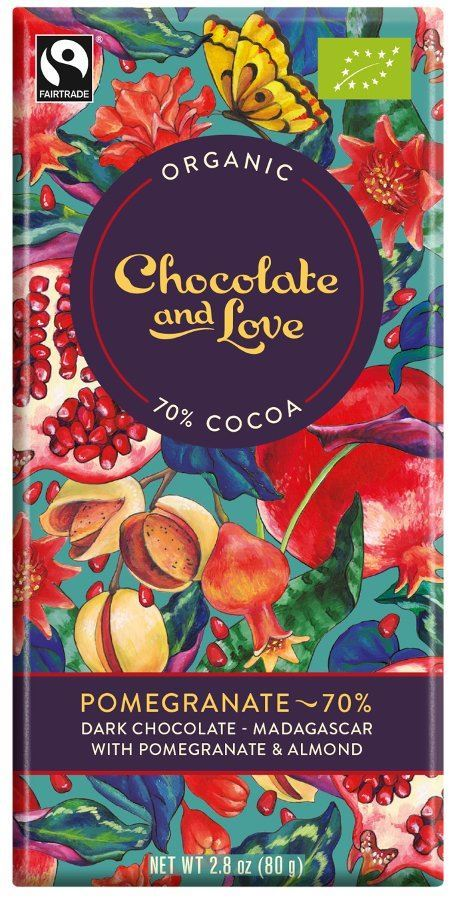Chocolate And Love Pomegranate 70 Chocolate 1 X 80g
