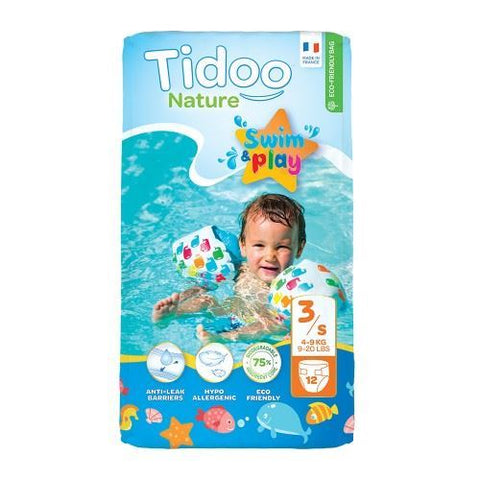 Tidu | Tidoo  Swimming Nappies - Size 3/s (4 - 9kg) | 1 x 12s