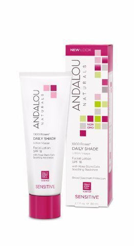 Andalou | 1000 Roses Daily Shade Facial Lotion Spf 18 | 1 x 80ml