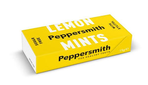Peppersmith | Sicilian Lemon Peppermints | 1 X 15g. This Product Is :- Vegan