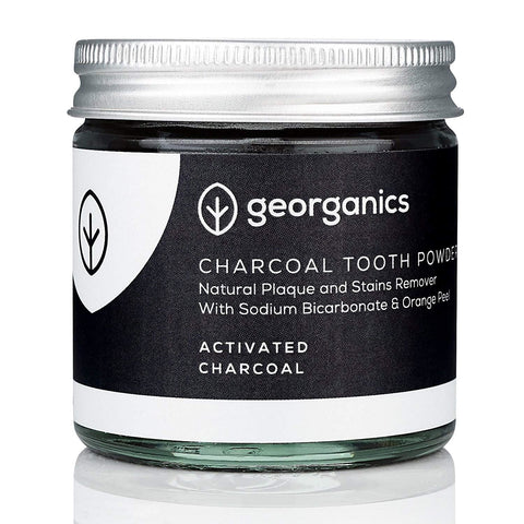 Georganics | Natural Charcoal Whitening Powder | 1 X 60ml. Sold By Superfood Market