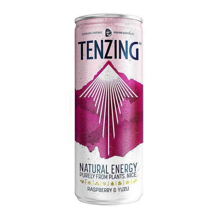 Tenzing | Raspberry & Yuzu Natural Energy Drink | 1 x 250ml