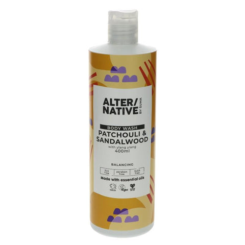 Alter/native By Suma | Patchouli & S'wood Body Wash | 1 X 400ml. This Product Is :- Vegan