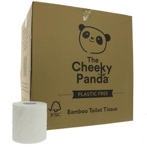 The Cheeky Panda | Bamboo Toilet Tissue 48 Rolls | 1 X 48 Rolls. This Product Is :- Vegan