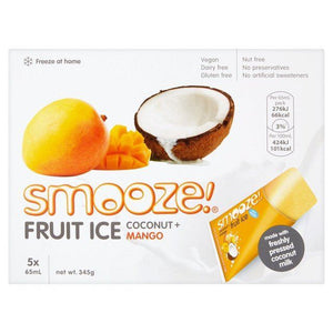 Smooze | Mango & Coconut Fruit Ice | 1 X 5 X65ml. This Product Is :- Vegan