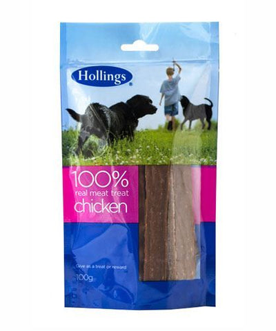 Hollings | Real Meat Treat - Chicken - For Dogs | 1 x 100g