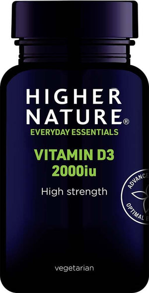 Higher Nature | Vitamin D3 2000iu Capsules | 1 x 60s | Higher Nature