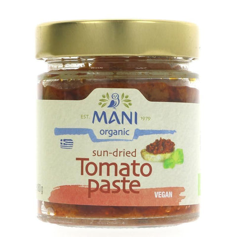 Mani | Og Sun Dried Tomato Paste | 1 X 180g. This Product Is :- Vegan,organic