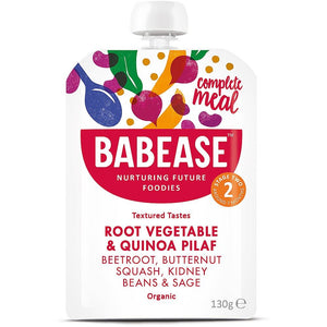 Babease | Root Vegetable & Quinoa Pilaf - Organic | 1 x 130g | Babease
