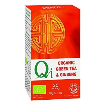 Herbal Health | Green Tea & Ginseng - Organic & Fairtrade | 1 x 25 Bags