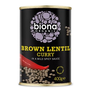 Biona | Brown Lentil Curry | 1 X 400g. This Product Is :- Vegan,organic