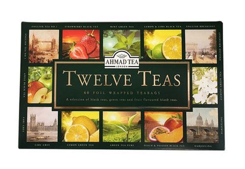 Ahmad | Twelve Teas Selection - Foiled | 1 x 60 Bags