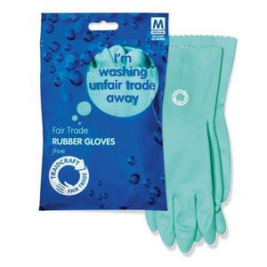 Traidcraft | Fair Trade Rubber Gloves | 1 X 1 Pairs. This Product Is :- Gluten Free,vegan,fairtrade