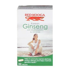 Red Kooga | Ginseng Multivitamins & Minerals | 1 X 32s. Sold By Superfood Market