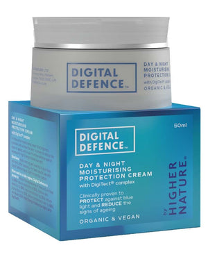 Higher Nature - Uk Only | Digital Defence Day & Night Moisturising Protection Cream | 1 X 50ml. Sold By Superfood Market
