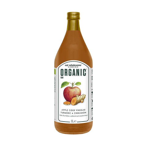 Eat Wholesome | Organic Raw Apple Cider Vinegar With Ginger Turmeric & Chill | 1 X 1ltr. Sold By Superfood Market