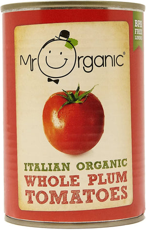 Mr Organic | Organic Whole Peeled Tomatoes | 1 x 400g | Mr Organic