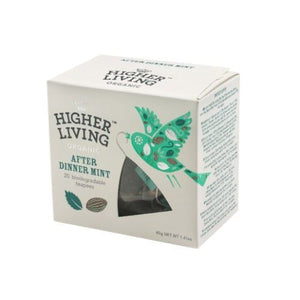 Higher Living | After Dinner Mint Teapees | 1 x 20 Bags | Higher Living