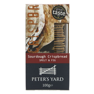 Peter's Yard | Artisan Crispbread - Spelt/fig | 1 X 100g. Sold By Superfood Market