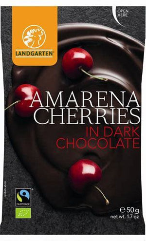 Landgarten | Armarena Cherries In Dark Chocolate | 1 x 50g | Landgarten