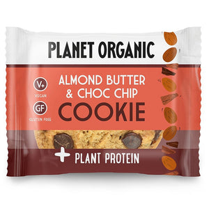 Planet Organic | Organic Almond Butter & Chocolate Chip Cookie | 1 X 50g. Sold By Superfood Market