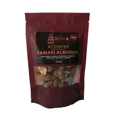 2die4 | Organic Activated Tamari Almonds | 1 X 100g. Sold By Superfood Market