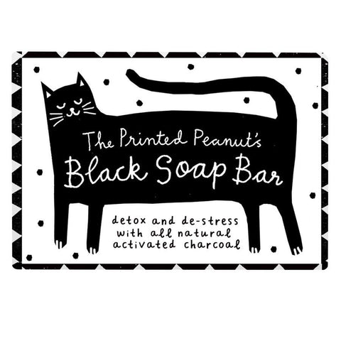 The Printed Peanut | Black Soap Bar For Tired Skin | 1 X 95g. This Product Is :- Vegan