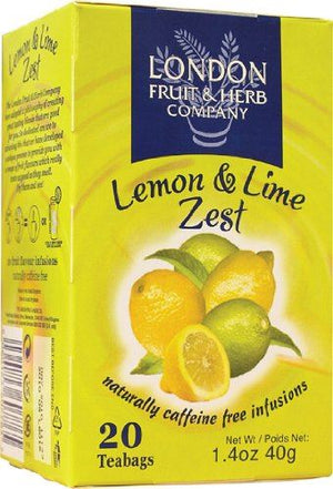 London Fruit & Herb Co | Lemon & Lime Zest | 1 X 20bags. Sold By Superfood Market