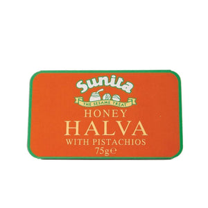 Sunita | Honey & Pistachio Halva | 1 X 75g. Sold By Superfood Market