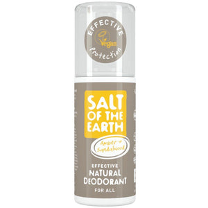Salt Of The Earth | Amber & Sandalwood Deodorant Spray | 1 X 100ml. Sold By Superfood Market