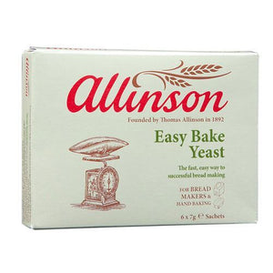 Allinsons | Easy Bake Yeast Sachets | 1 x (7gx6) | Allinsons