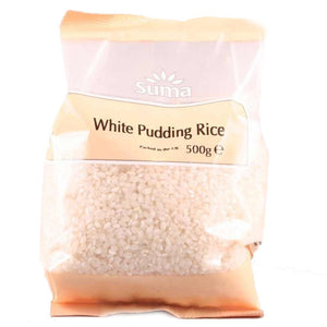 Suma Prepacks | Rice - Pudding White | 1 X 500g. This Product Is :- Vegan