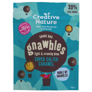 Creative Nature | Gnawbles - Salted Caramel | 1 x 75g. Sold By Superfood Market