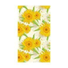 Duni | 138x220cm Sunflower Dunisilk Table Cover | 1 x Single