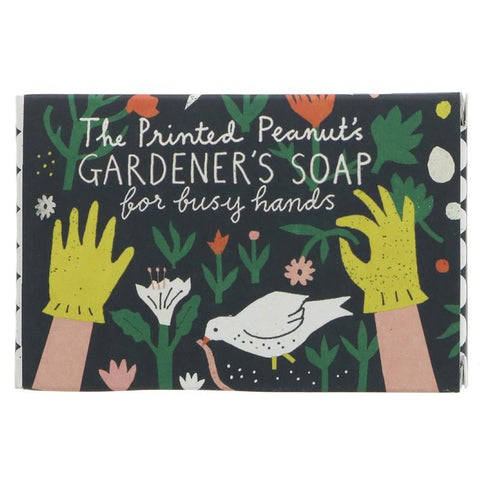The Printed Peanut | Gardeners Soap With Poppy Seed | 1 X 95g. This Product Is :- Vegan