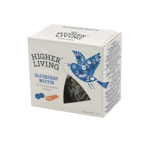 Higher Living | Blueberry Muffin Teapees | 1 x 20 Bags