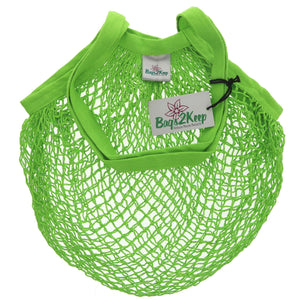 Bags2keep | Green Cotton String Bag | 1 x Bag | Bags2keep