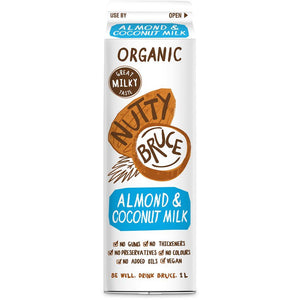 Nutty Bruce | Nutty Bruce  Activated Unsweetened Almond & Coconut M*lk | 1 X 1ltr. Sold By Superfood Market