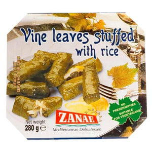 Zanae | Stuffed Vine Leaves | 1 X 280g. This Product Is :- Vegan