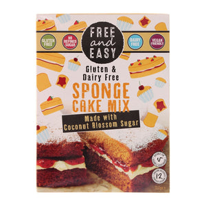 Free & Easy | Gluten & Dairy Free Sponge Cake Mix With Coconut Blossom | 1 x 350g | Free & Easy