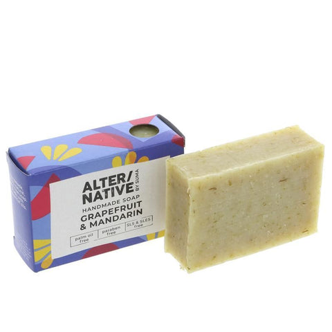 Alter/native By Suma | Boxed Soap G'fruit & Mandarin | 1 X 95g. This Product Is :- Vegan