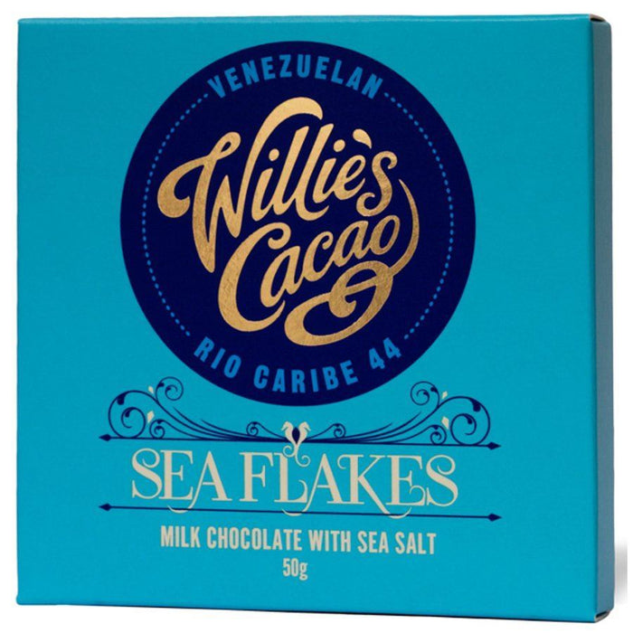 Willies | Sea Flakes 44 Milk Chocolate With Sea Salt | 1 x 50g