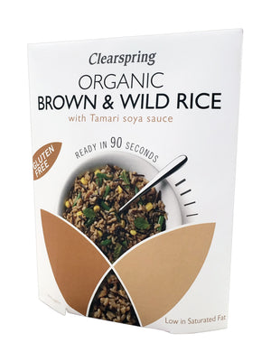 Clearspring | 90 Second Brown Rice With Tamari | 1 x 250g | Clearspring