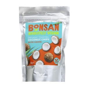 Bonsan | Organic Coconut Chips Salted Caramel | 1 x 40g