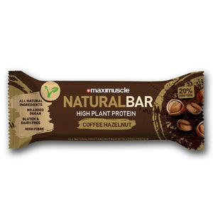 Maximuscle | Natural Bar - Coffee & Hazelnut Flavour | 1 x 40g | Maximuscle