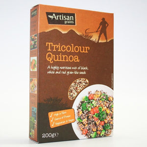 Artisan Grains | Tricolour Quinoa | 1 x 200g | Artisan Grains