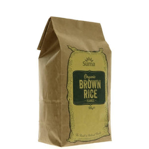 Suma Prepacks - Organic | Rice Flakes Brown - Organic | 1 X 500g. This Product Is :- Vegan,organic