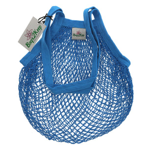 Bags2keep | Blue Cotton String Bag | 1 x Bag | Bags2keep