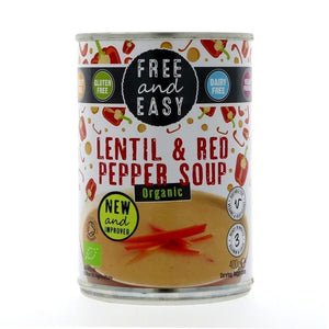 Free & Easy | Lentil & Red Pepper Soup - Org | 1 x 400g | Free & Easy